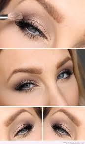 gorgeous natural eye makeup golden shimmers blue eyes