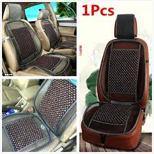 cooling car seat cover cooling natural wood beads car seat cushion pad home chair mesh mat cooling car seat cover
