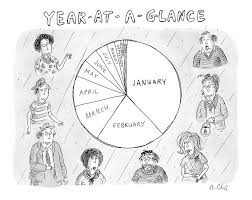 Year At A Glance A Pie Chart Of The Months By Roz Chast