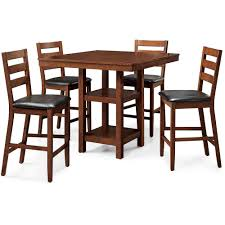 Better Homes and Gardens Dalton Park 5Piece Counter Height Dining Set  Mocha  Walmartcom