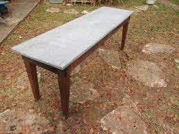 images zinc table top: zinc top sofa table a zinc top sofa table  zinc top sofa table a