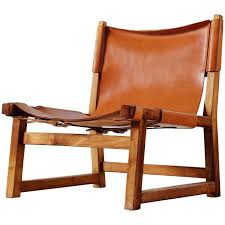 scandinavian leather chairs. Unique Leather Scandinavian Hunting Chair In Cognac Leather For Sale Chairs 1stDibs