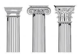 Wektory stockowe: dorycki joński koryncki, rodzaje kolumn, głowica kolumny  - rysunki, obrazy, ilustracje | Depositphotos