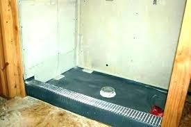 shower pans tile ready pan home depot barrier free installation base preformed liner sh kohler panels