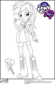 My Little Pony Girls Rainbow Rocks Coloring Pages Applejack
