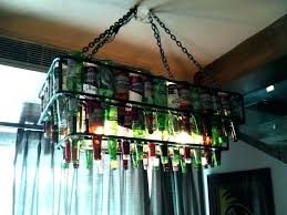 diy beer bottle chandelier chain style how make a corona