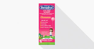 Children S Chewable Benadryl Dosage Chart Benadryl Dosing Guide Benadryl