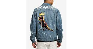 lyst sean john basquiat pez denim jacket created for macy s in blue for men