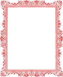 Decorative Borders For Word Decorative Backgrounds For Word Documents Red Border From Page