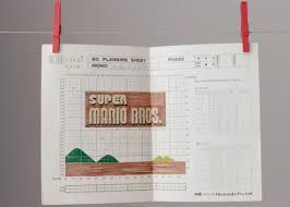 Making Of Super Mario Bros Title Screen Graph Paper Design