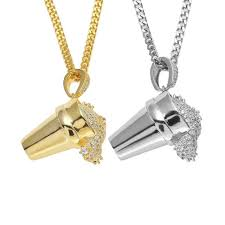 hip hop 24curb cuban chain mens iced out lab cubic zirconia gold tone drank necklace pendant