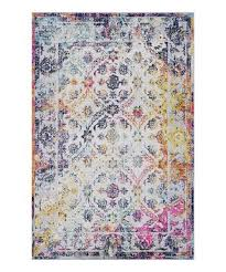 poly bark pink blue distressed damask lorelai area rug