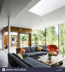 living room extension. living room extension with roof light in high barnet family home london by paul archer design e