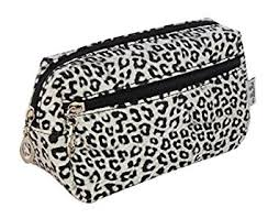 make up bag womens cosmetic beauty bags holder for las s print leopard spot amazon co uk beauty