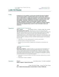 Sample Early Childhood Education Resume Early Childhood Education