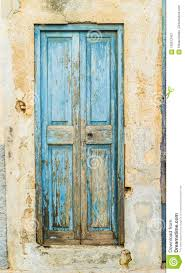 Light Blue Front Door Ancient Blue Front Door Of An Old House Stock Image Image