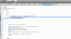 html calculator form php basics 3 making a calculator using html forms youtube