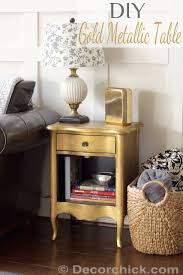 diy metallic furniture. DIY Gold Metallic Table Furniture Makeover   Www.decorchick.com Diy U