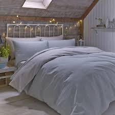 catherine lansfield home brushed polka 100 brushed cotton flannelette reversible duvet cover set duck