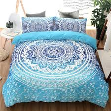 small size of bohemian queen king size duvet cover set blue printing quilt cover bed linen