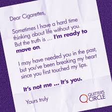Breakup Letters Write Your Way to Smoking Cessation | Quitter's Circle