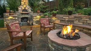 good ideas to make landscape fire features better home garden