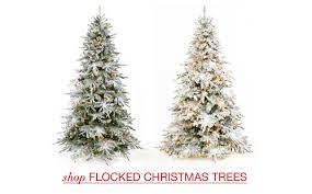 75 Ft PreLit White Full Flocked Vermont Pine Artificial Slim Flocked Christmas Trees Artificial