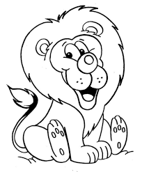 Coloring Books Lion Color Page At Design Free Coloring Kids