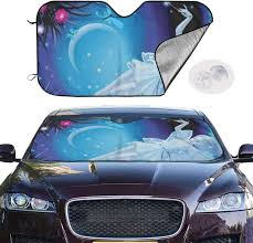 Windshield Sun Shades With Designs Amazon Com Tianheyue Fantasy Design Luminous Fairy Girl Car