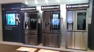 lg refrigerator instaview. lg instaview door-in-door refrigerators on display during innofest2017 lg refrigerator instaview w