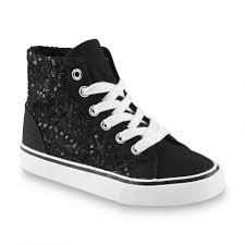 nike shoes for girls high tops black. joe boxer girls revamp blackwhite high top sneaker shoes sneakers black: large size nike for tops black l