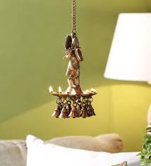 yellow brass krishna hanging diya by handecor