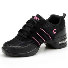 Fitness Sports Shoes Feature <b>Soft Outsole</b> Breath Dance Shoes ...