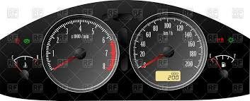 rpm gauge vector. car dashboard gauges: speedometer, rpm and fuel level indicator vector clipart gauge
