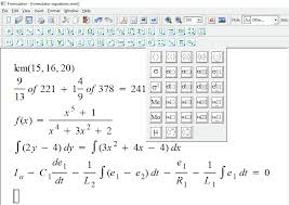 formulator is easy to use fully featured math equation editor for windows it is loaded with diffe types of mathematical equations structures
