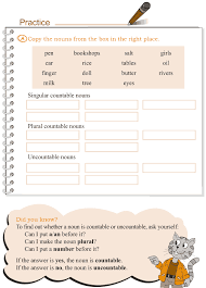 Grade 3 Grammar Lesson 3 Nouns - countable and uncountable (3 ...
