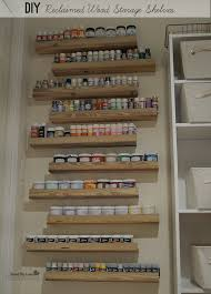 diy craft paint storage from reclaimed wood savedbyloves