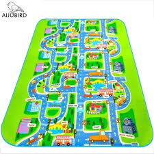 childrens road map rugs uk city carpet toys for kids baby play mats developing children s