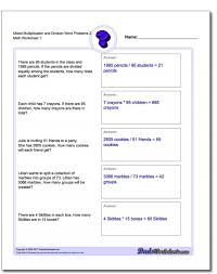 Mixed Multiplication And Division Word Problems Worksheets 3rd ...