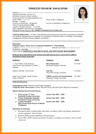 Amusing Resume Format For Job Application Philippines Also Resume