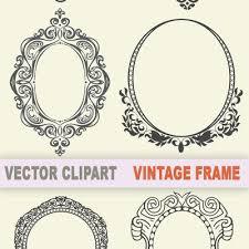 antique picture frames vector. Free Vintage Frame Clipart Antique Picture Frames Vector F