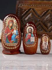 """<b>Матрешка</b> """"Православная"""", 3 кукольная, Иверская, Спас ..."""