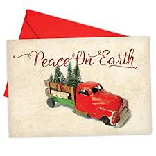 Christmas Notecard Amazon Com B6719hxsg Box Set Of 12 Christmas Antiquities Christmas