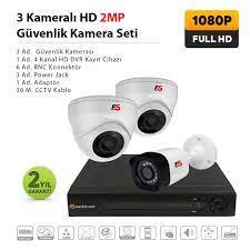 HD Güvenlik Kamerası Set 3 lü Güvenlik Kamerası