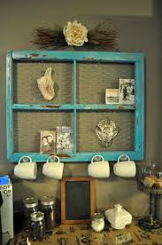 Old picture frame ideas Burlap Turquoise Window Frame Coffee Corner Homedit 20 Different Ways To Use Old Window Frames
