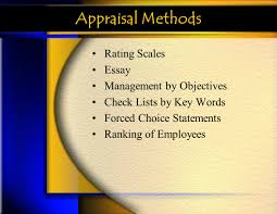 performance appraisals ppt appraisal methods rating scales essay management by objectives