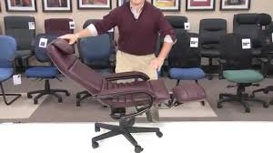 office reclining chair. wonderful reclining ofm inc  office chair model 680 barrister executive recliner youtube to reclining c