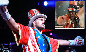 Twitter explodes as Tyson Fury performs Rocky IV inspired ...