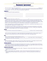 House Rules For Roommates Template Free Michigan Roommate Agreement Template Pdf Eforms