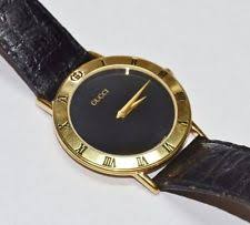 men s gucci watch digital diamond gold twirl gucci vintage men s 3000 m 2 gold plated watch serviced works great leather